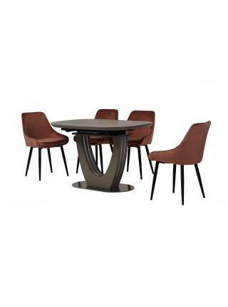 Керамический стол TML-865-1 айс грей